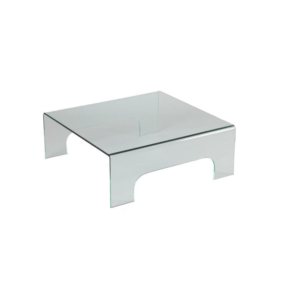 table basse carr e en verre clean univers salon. Black Bedroom Furniture Sets. Home Design Ideas