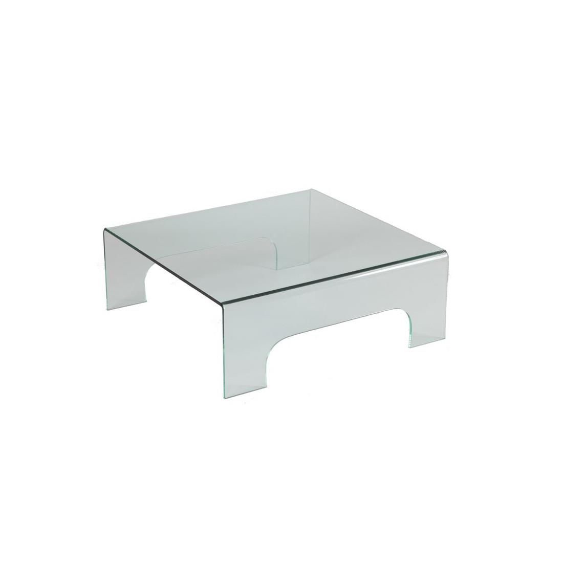 table basse carr e en verre clean univers salon tousmesmeubles. Black Bedroom Furniture Sets. Home Design Ideas