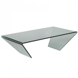 Table basse rectangulaire en verre - BRIGHT