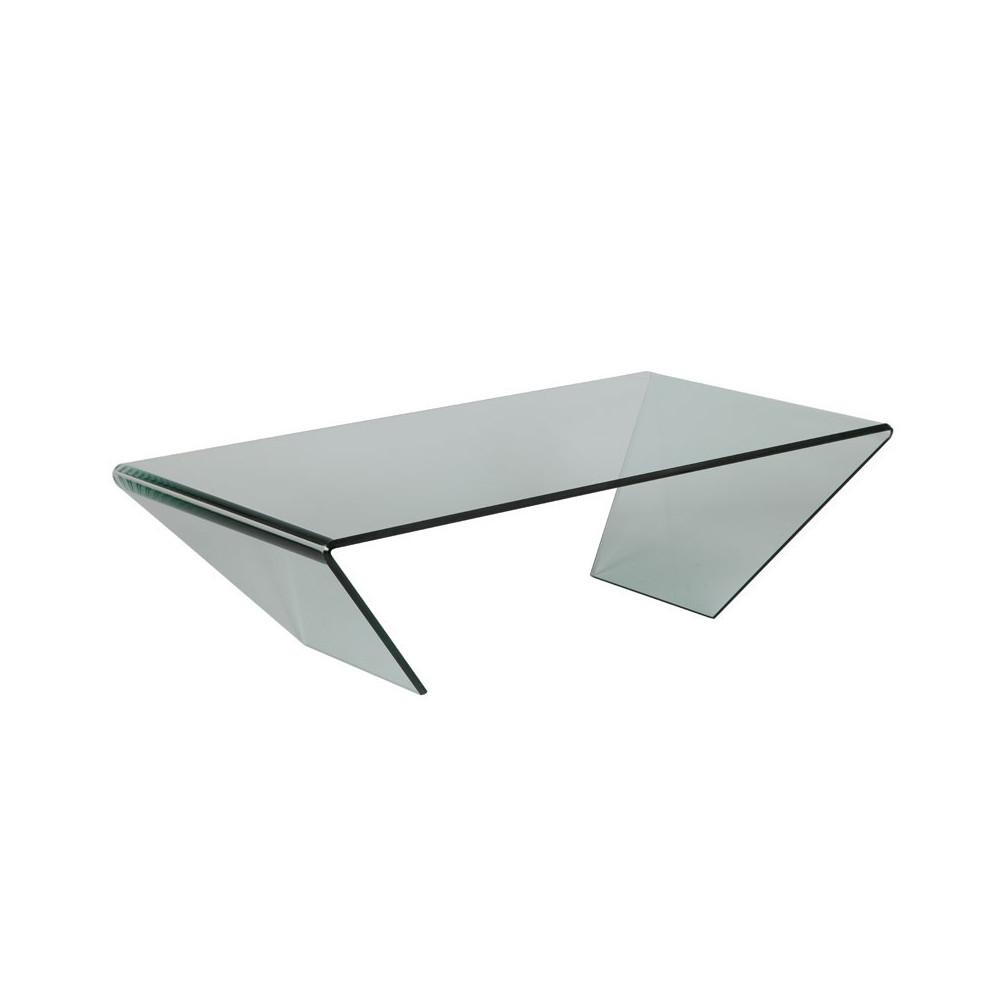 Table basse rectangulaire en verre - BRIGHT