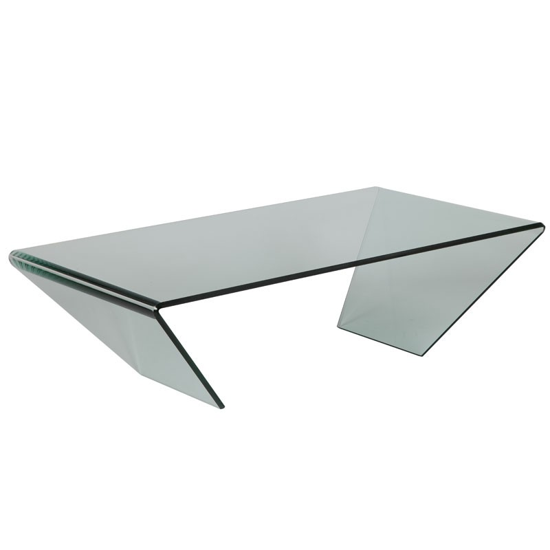 Table basse rectangulaire verre bright univers salon - Table verre rectangulaire ...