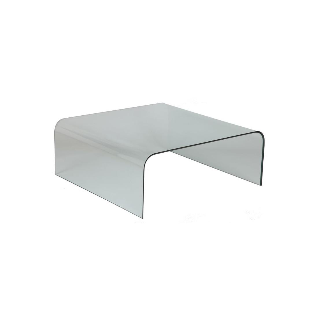Table basse carr e en verre bright univers salon tousmesmeubles - Table basse verre carree ...
