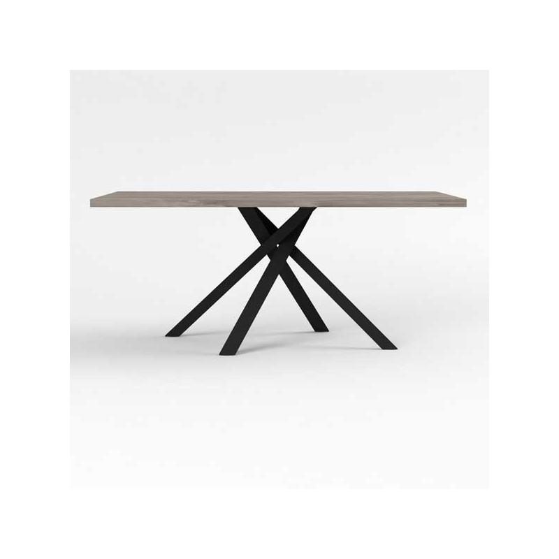 Table de repas 180 cm Bois/Métal - LEOKI