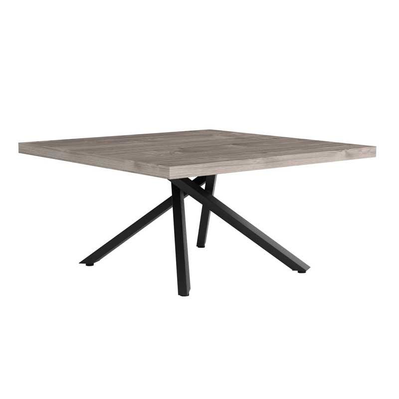 Table basse carrée Bois/Métal - LEOKI