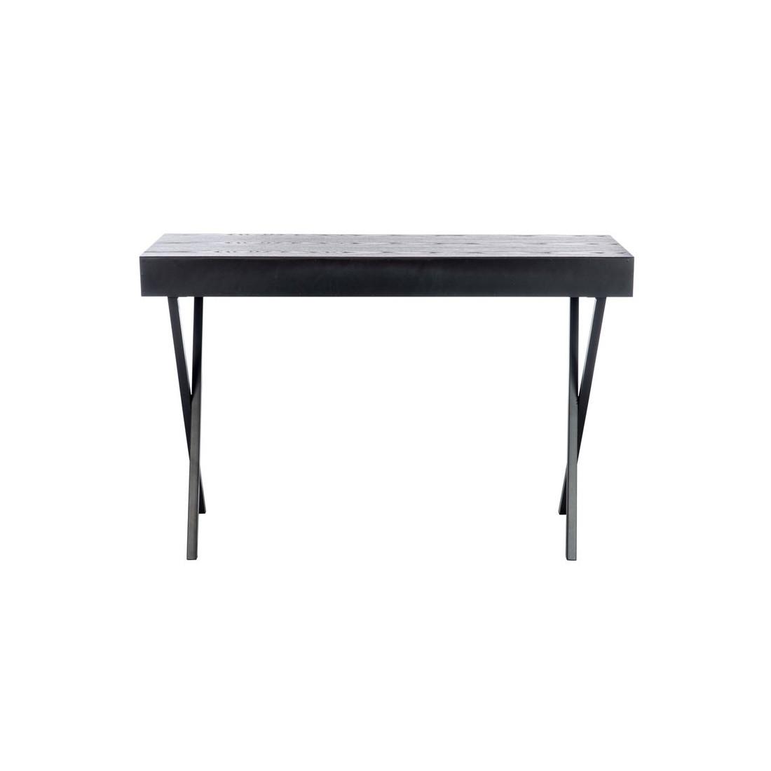 bureau 2 tiroirs bois noir prague univers bureau. Black Bedroom Furniture Sets. Home Design Ideas