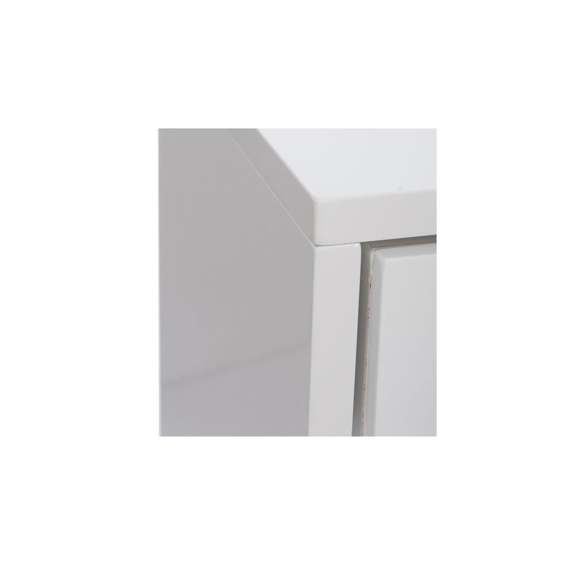 Console 2 tiroirs laqu blanc lina petits meubles for Petit meuble tiroir blanc