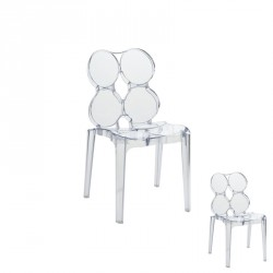 Duo de chaises Transparent - JELLY