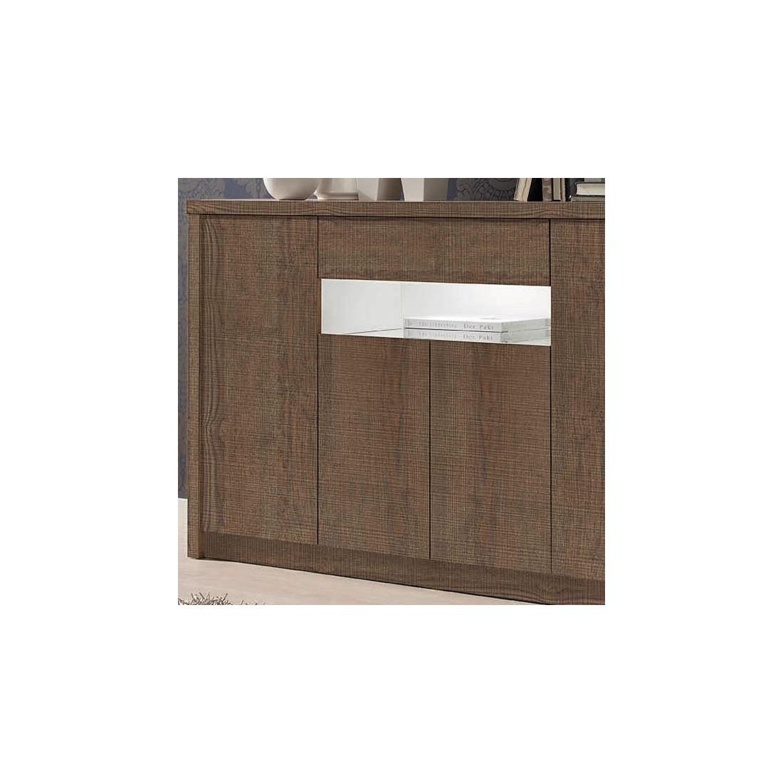 buffet 4 portes 1 tiroir ch ne fonc botekia salle manger mesmeubles. Black Bedroom Furniture Sets. Home Design Ideas