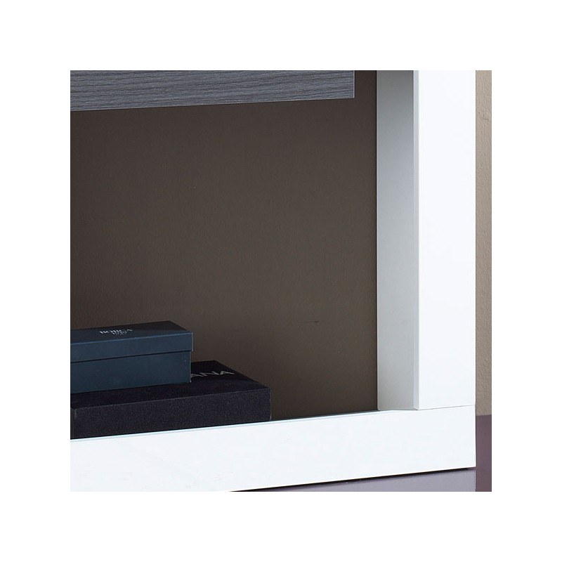 Meuble d 39 entr e blanc cendre miroir neema univers for Miroir sans fond