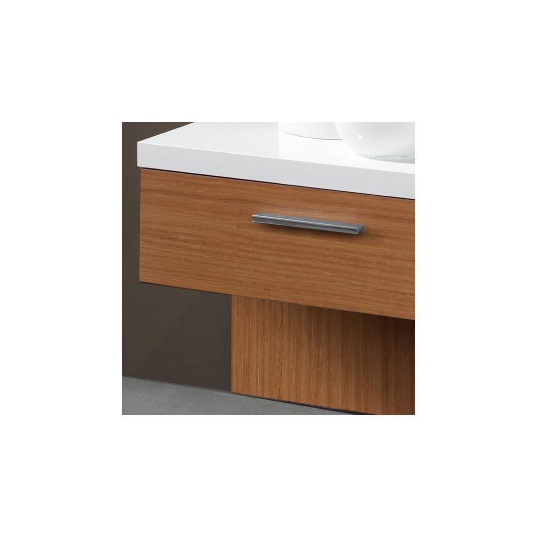 meuble d 39 entr e blanc noyer miroir gomelle univers petits meubles. Black Bedroom Furniture Sets. Home Design Ideas