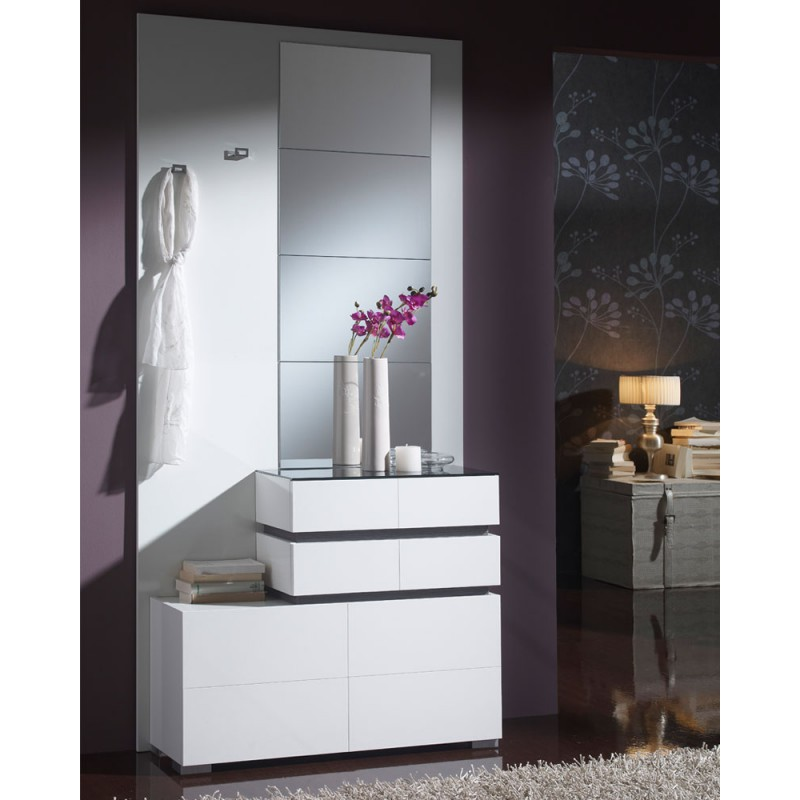 meuble d 39 entr e blanc miroirs vana univers petits meubles mesmeubles. Black Bedroom Furniture Sets. Home Design Ideas