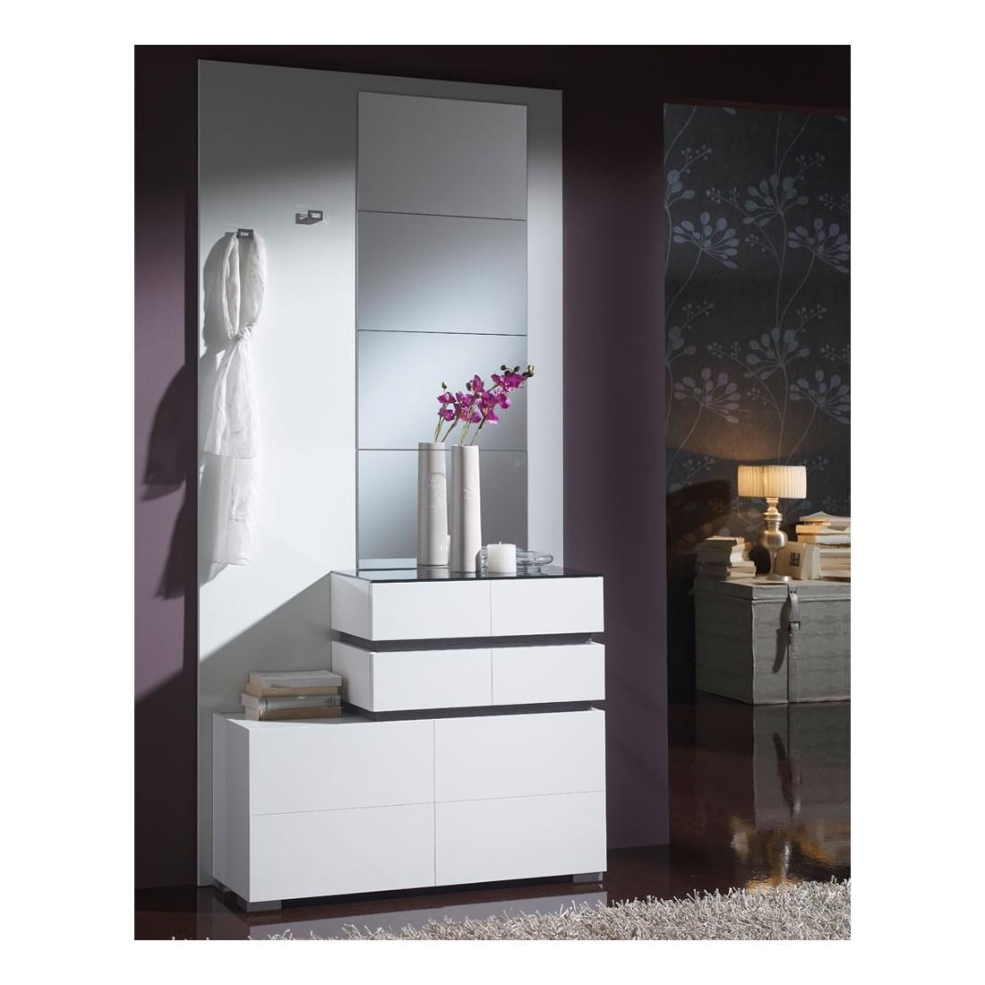 Meuble D Entrée Blanc : meuble d 39 entr e blanc miroirs vana univers petits meubles mesmeubles ~ Teatrodelosmanantiales.com Idées de Décoration