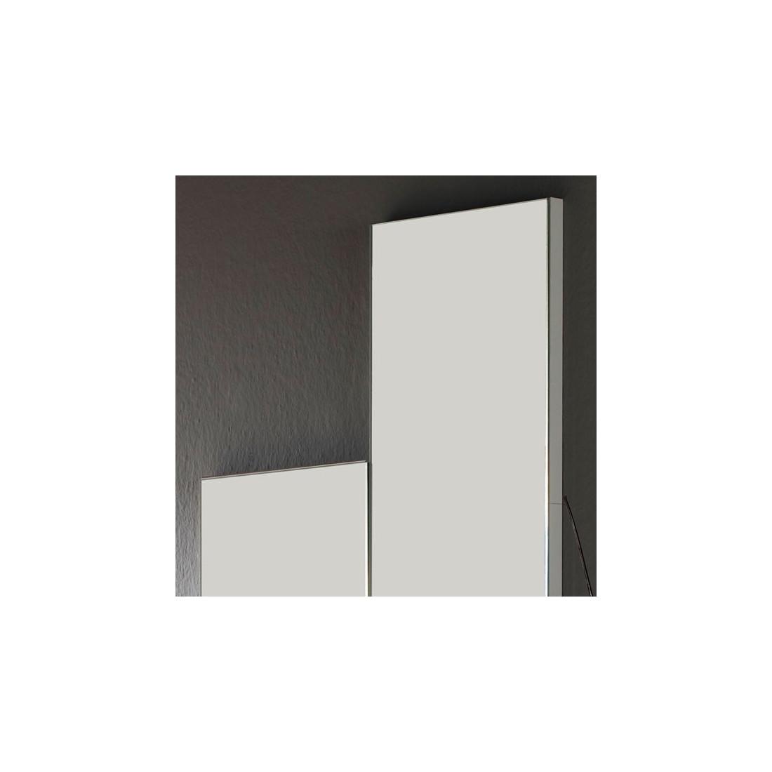 Miroir Bois Clair : blanc ch?ne clair miroir nyla meuble d entr?e suspendu miroir