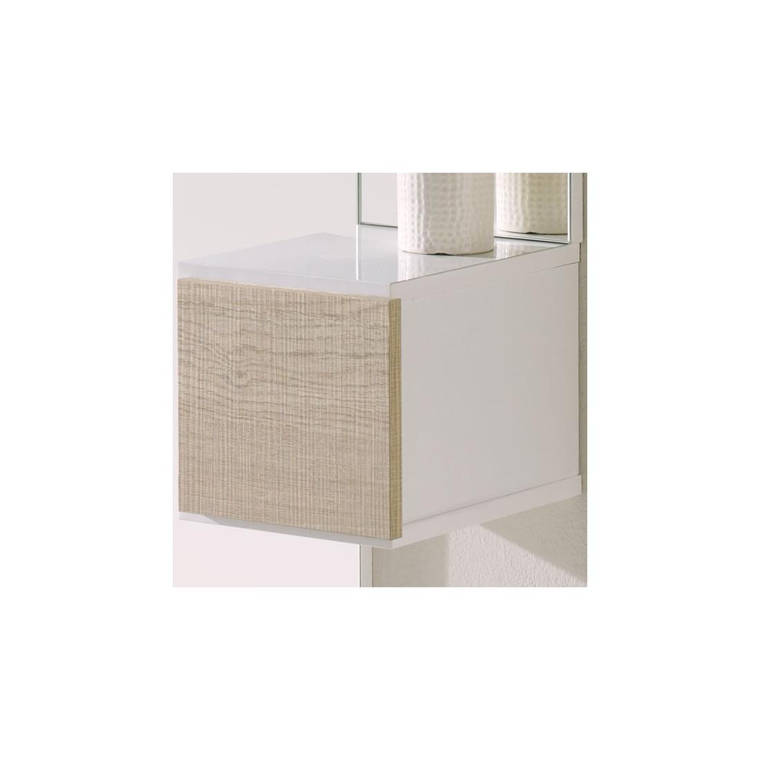 meuble d 39 entr e blanc ch ne clair miroir sirra petits meubles. Black Bedroom Furniture Sets. Home Design Ideas