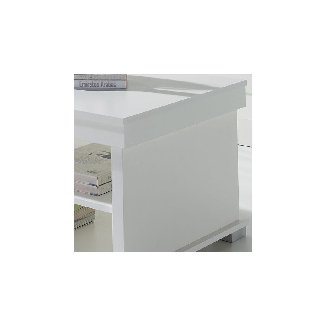 Table basse blanche relevable nese univers du salon - Table basse blanche relevable ...