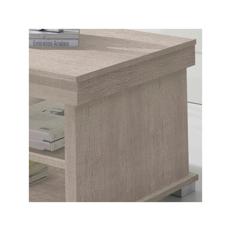 Table basse ch ne clair relevable nese le salon for Table basse en chene clair