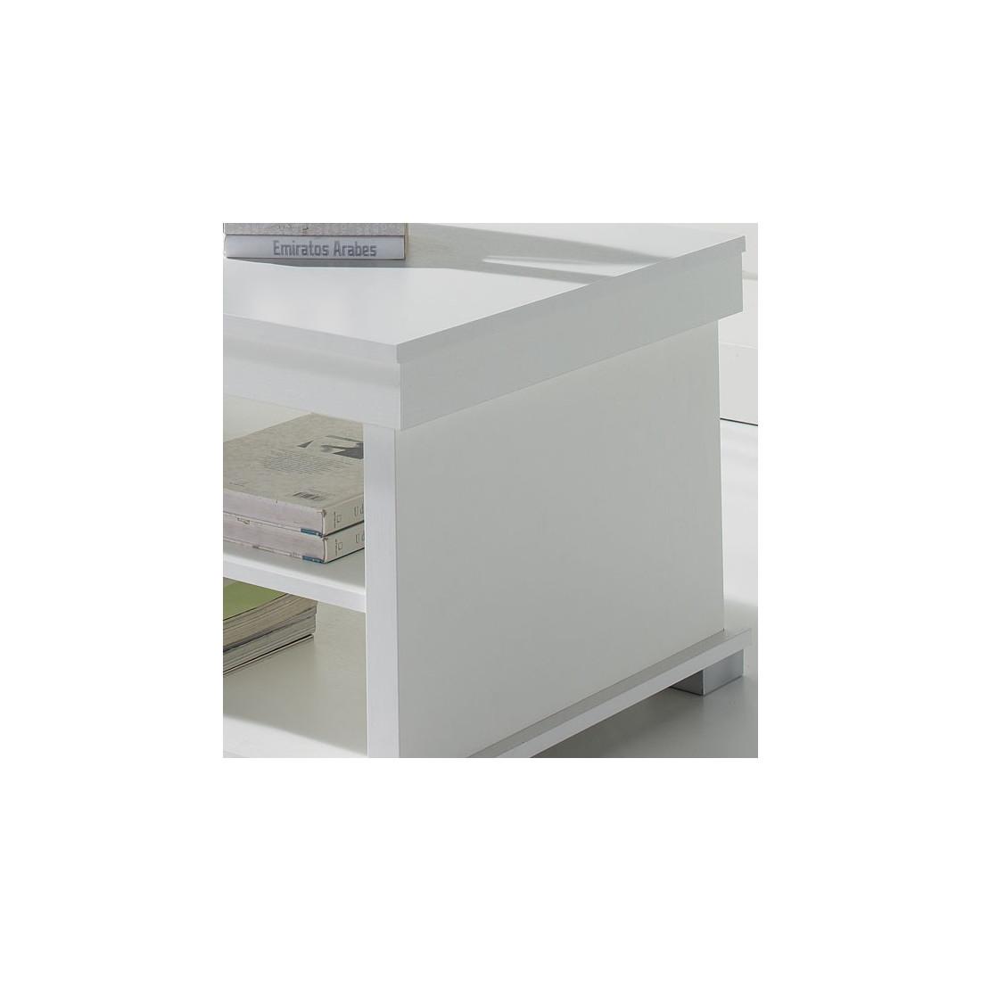 table basse blanche relevable essa univers du salon. Black Bedroom Furniture Sets. Home Design Ideas