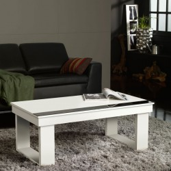 Table basse relevable blanche UPTO - Univers du Salon : Tousmesmeubles