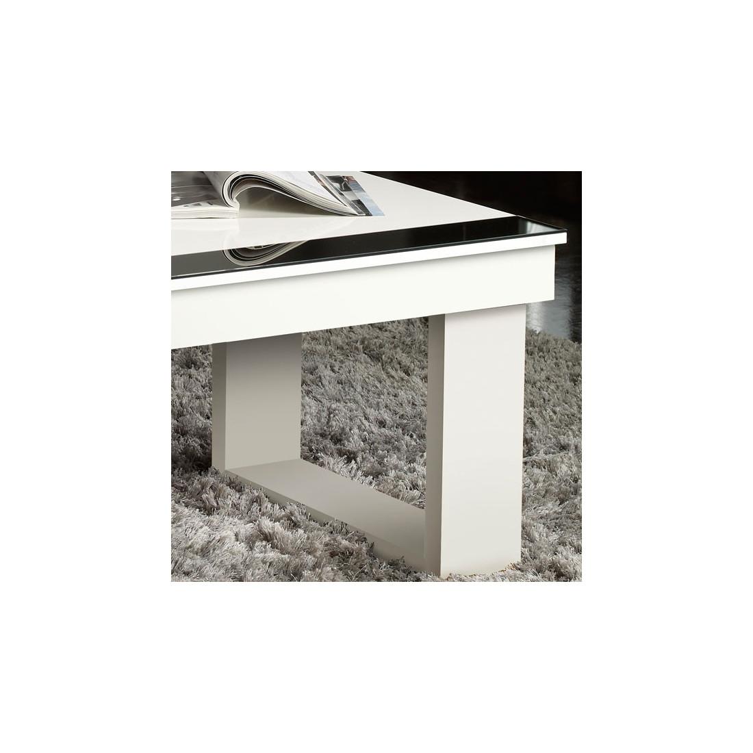 Table basse relevable blanche upto univers du salon - Table relevable blanche ...