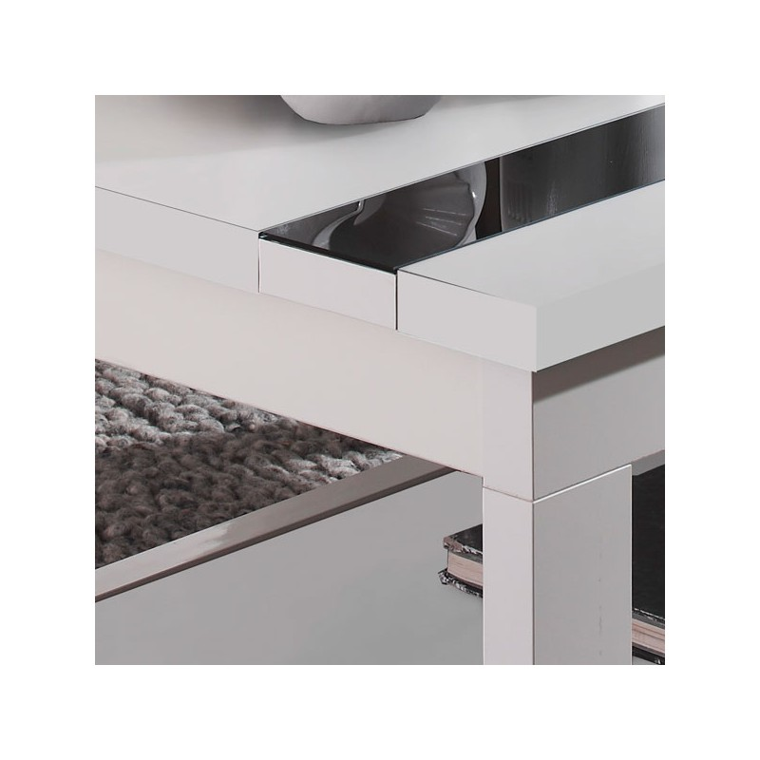 Table basse relevable blanche upti univers du salon - Table basse blanche relevable ...