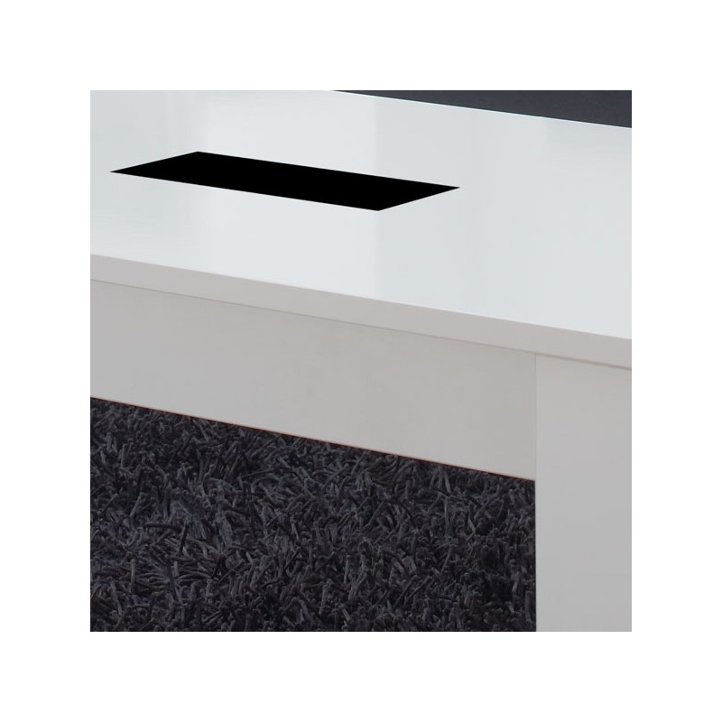 Table basse blanche relevable mysia univers du salon - Table basse relevable blanche ...