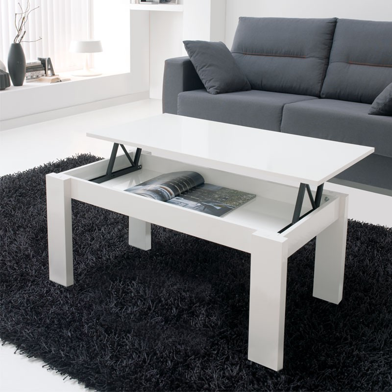 table basse relevable blanche moderne n 1 malia univers du salon. Black Bedroom Furniture Sets. Home Design Ideas