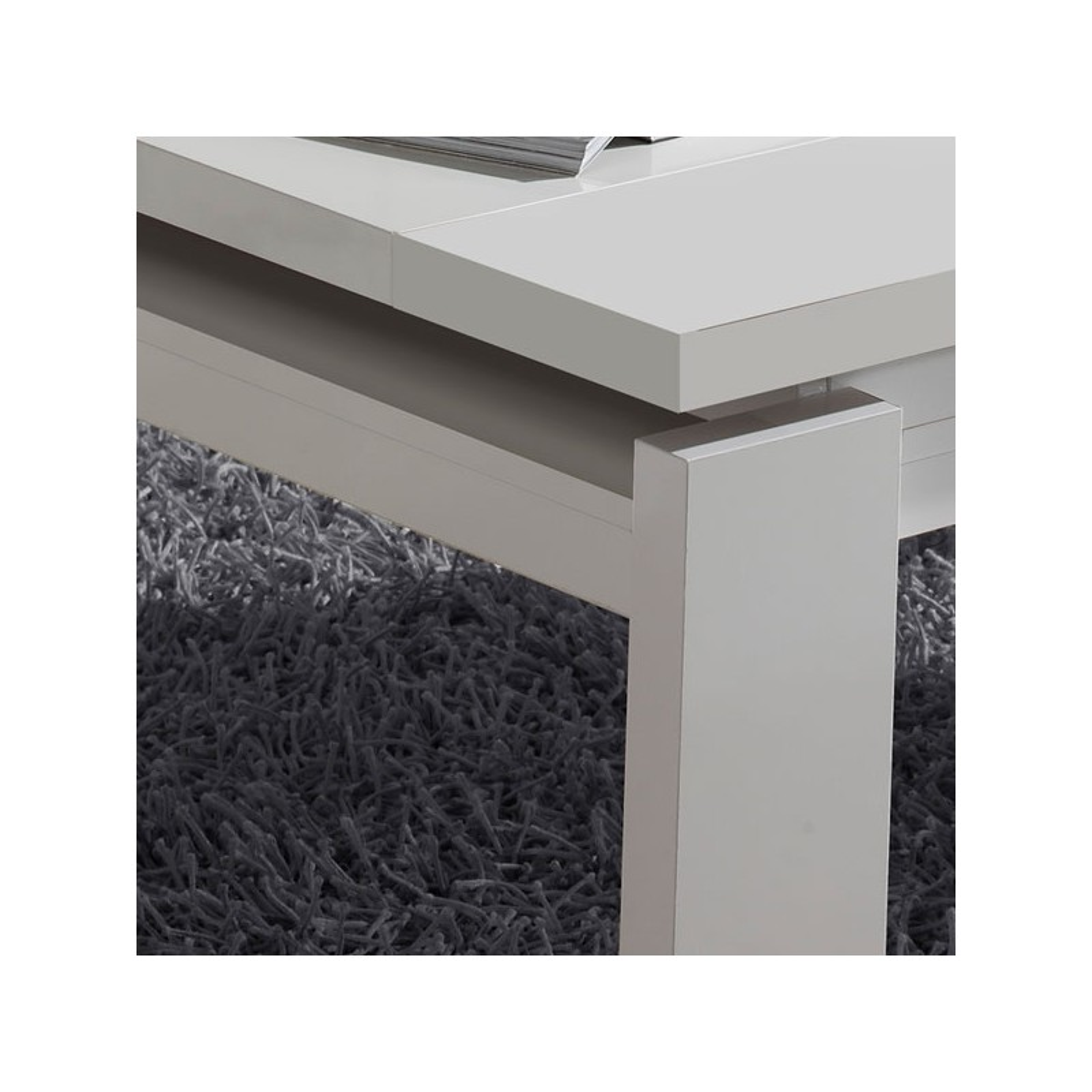 table basse blanche relevable dilia univers du salon. Black Bedroom Furniture Sets. Home Design Ideas