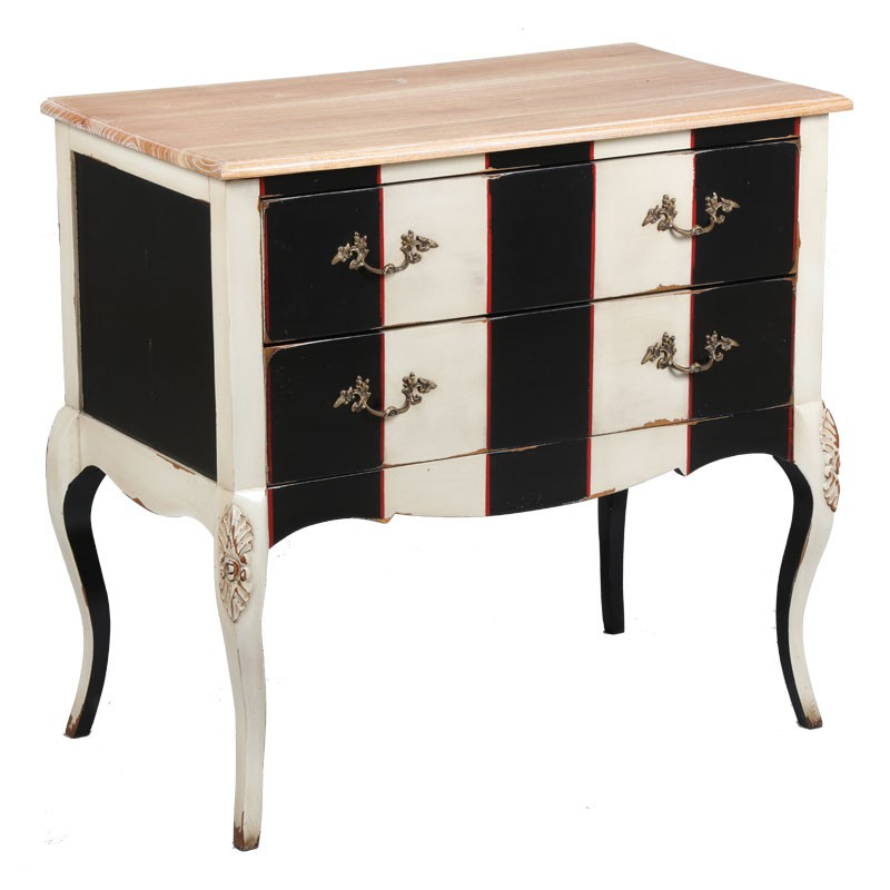 commode 2 tiroirs cornelia univers de chambre tousmesmeubles. Black Bedroom Furniture Sets. Home Design Ideas