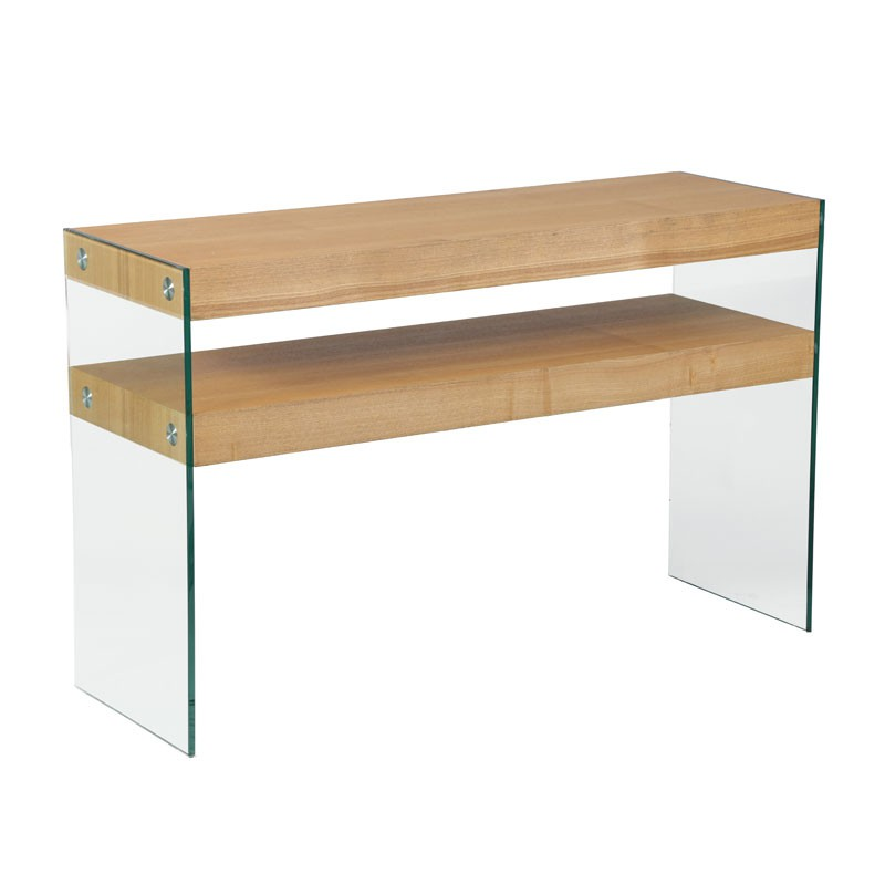 Table bois leroy merlin for Console en bois flotte