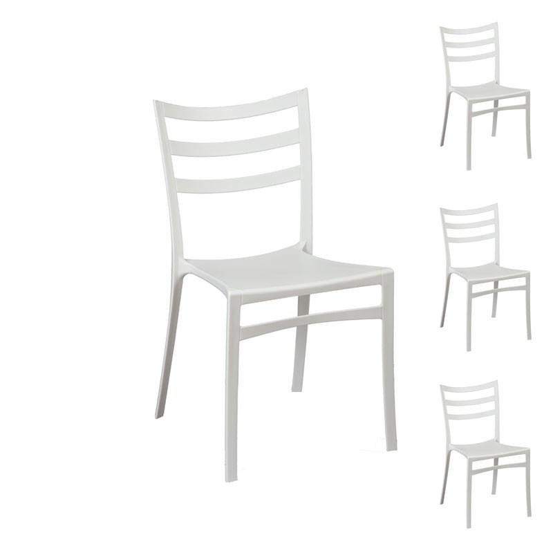 Quatuor de chaises Blanches