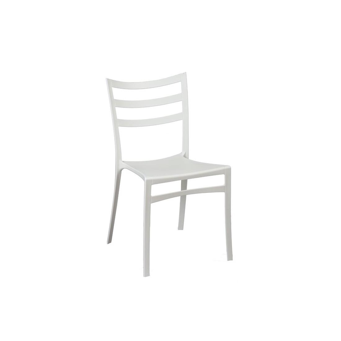 quatuor de chaises blanches mya univers salle manger. Black Bedroom Furniture Sets. Home Design Ideas