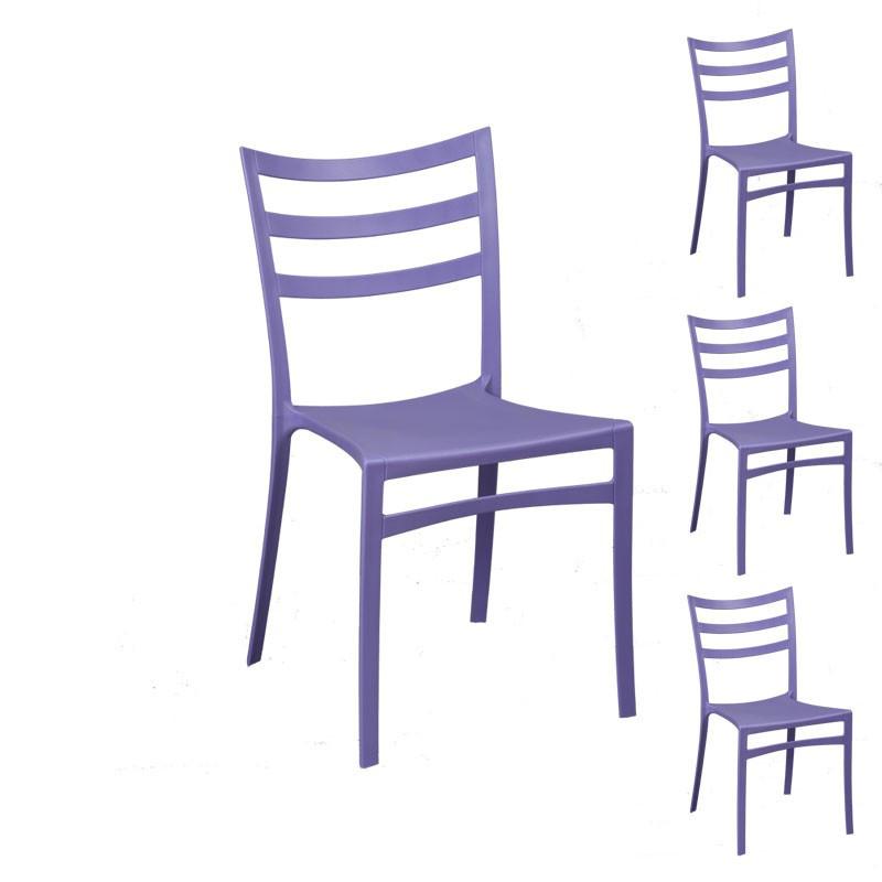 Quatuor de chaises Violettes