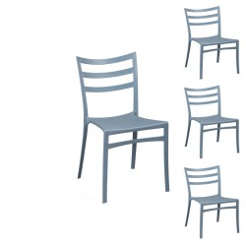 Quatuor de chaises Gris/Bleu - MYA