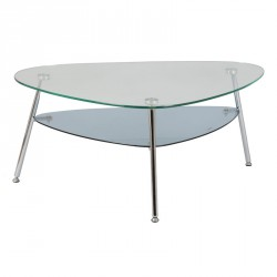 Tables basses salon meubles maison 3 tousmesmeubles - Table basse verre acier ...