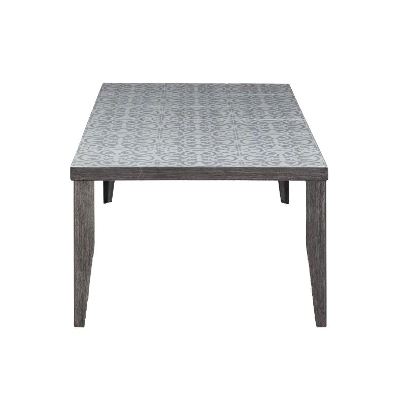 Table basse avec carreaux de ciment for Table de jardin en ciment