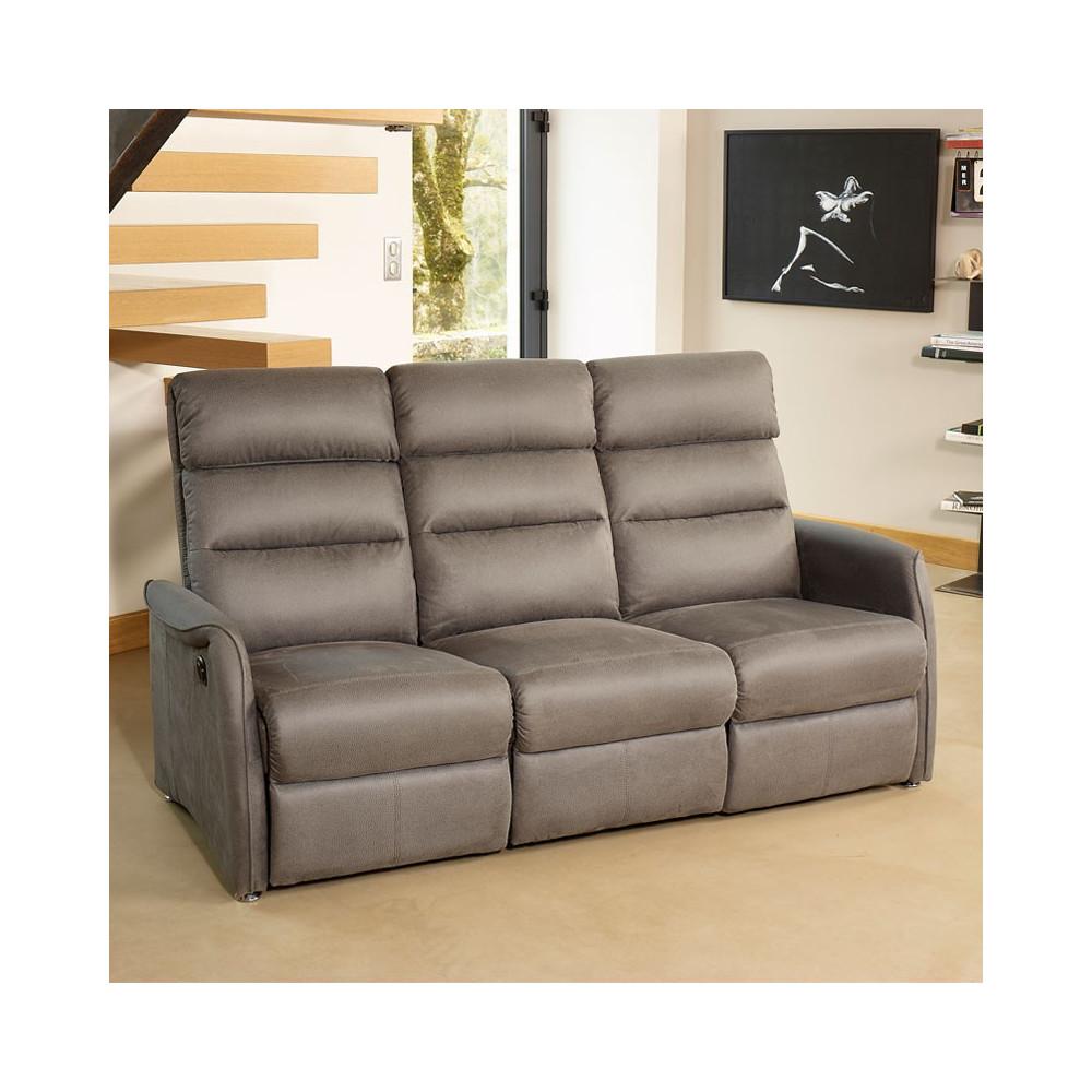 canap de relax lectrique 3p gris softy univers salon. Black Bedroom Furniture Sets. Home Design Ideas