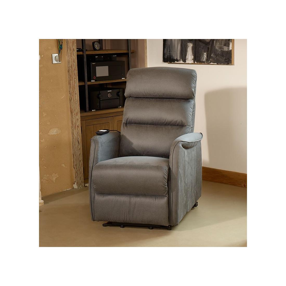 fauteuil de relaxation gris softy univers du salon. Black Bedroom Furniture Sets. Home Design Ideas