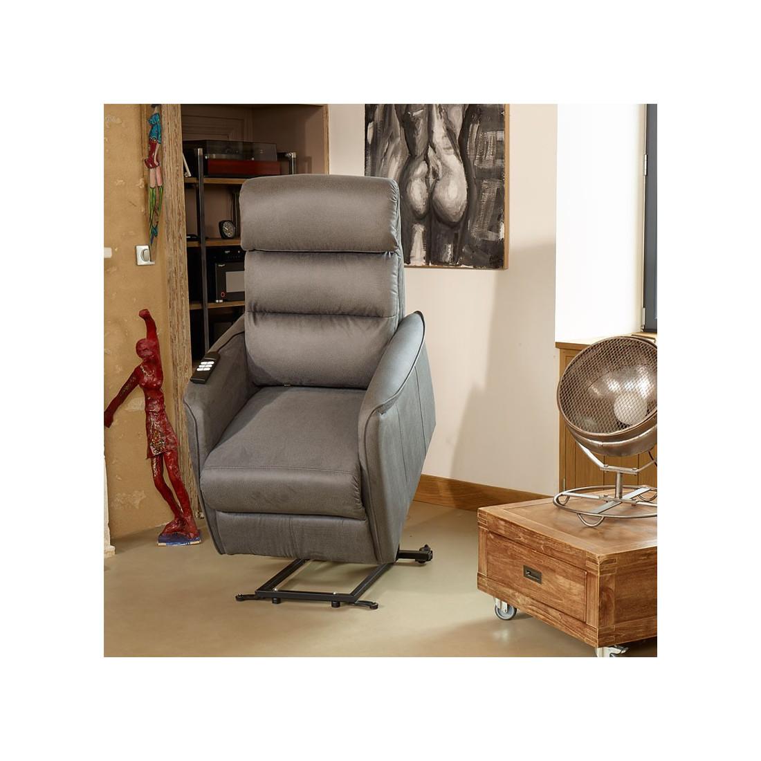fauteuil de relaxation gris softy univers du salon tousmesmeubles. Black Bedroom Furniture Sets. Home Design Ideas
