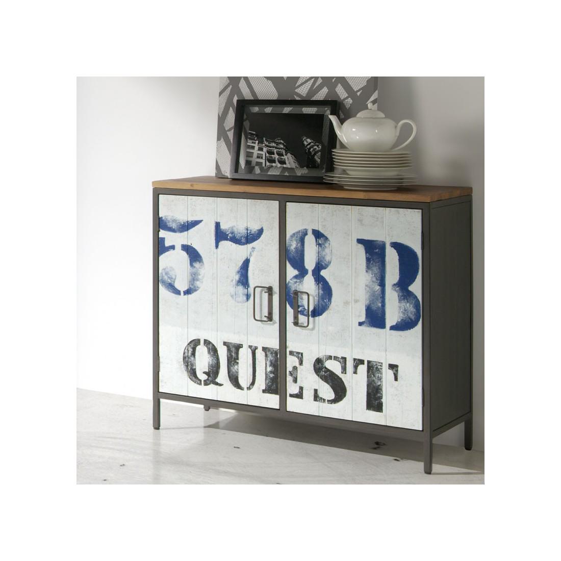 meuble de rangement 2 portes furyo univers petits meubles. Black Bedroom Furniture Sets. Home Design Ideas