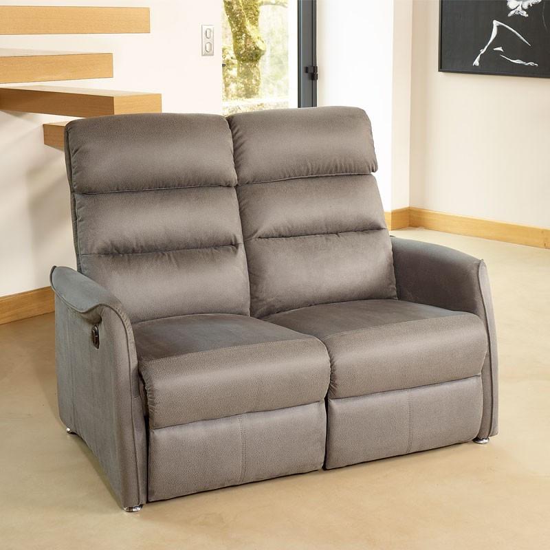 Canapé de Relaxation électrique 2 places Gris - SOFTY