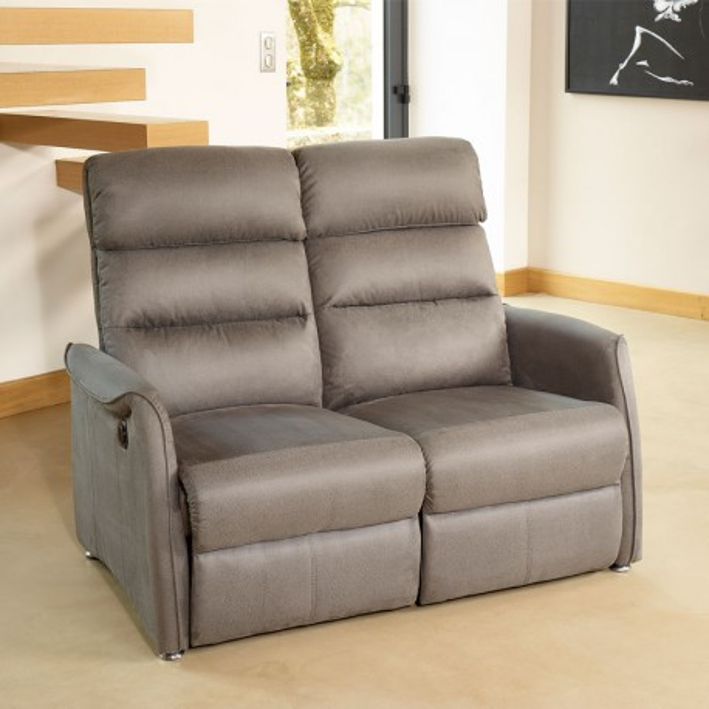 Canap relax lectrique 2p gris softy univers salon tousmesmeubles - Canape convertible electrique ...