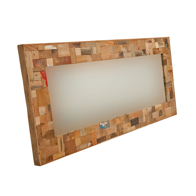 Miroir 160 cm industry univers d coration tousmesmeubles for Miroir 160 cm