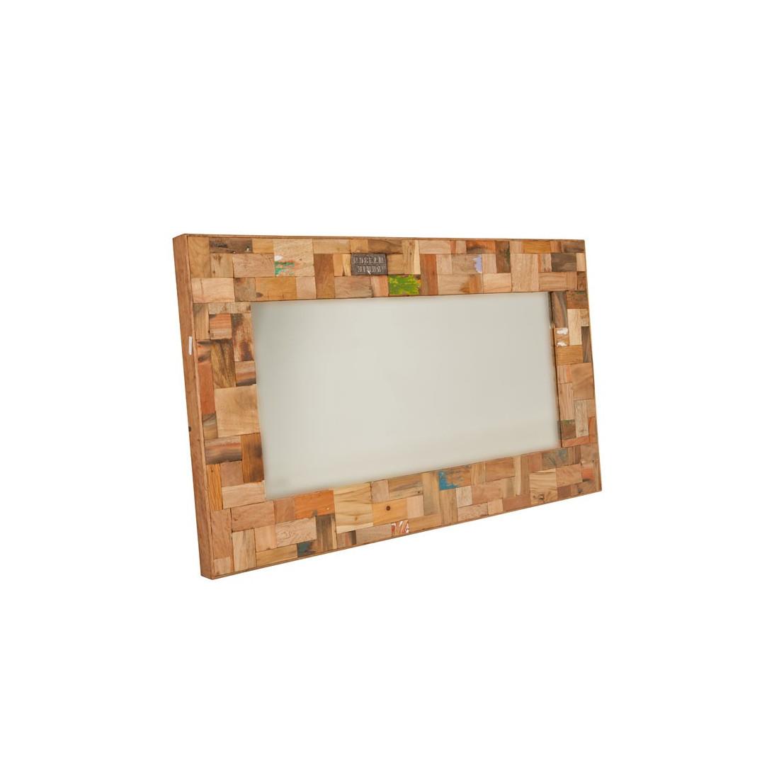 Miroir 120 cm industry univers d coration tousmesmeubles for Miroir rectangulaire 120 cm