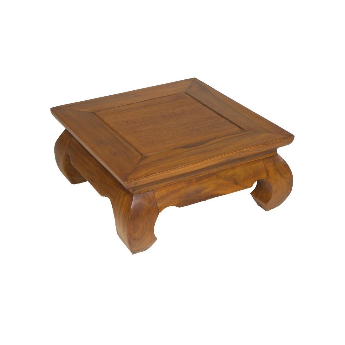 table d 39 appoint en teck pias univers du salon tousmesmeubles. Black Bedroom Furniture Sets. Home Design Ideas