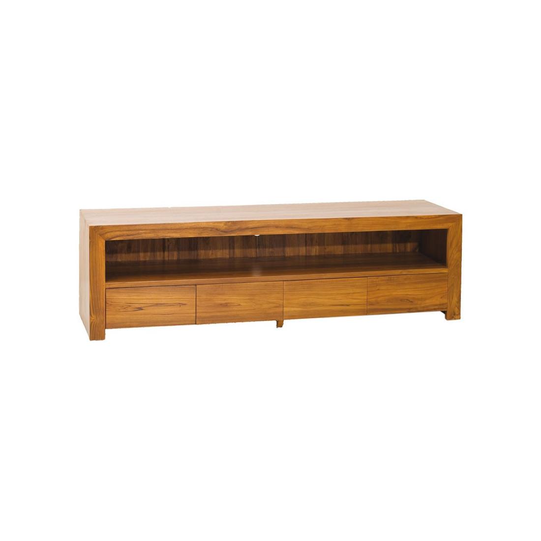 Meuble Tv Bas En Teck : Salon gt meubles tv meuble tiroirs en teck ...