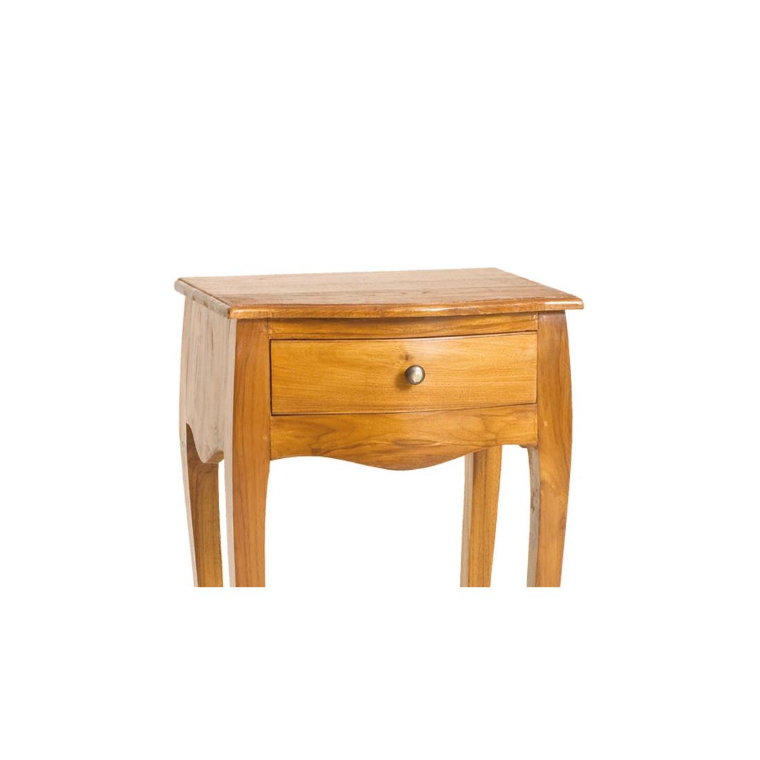 Table De Chevet 1tiroir Pias En Teck Univers Chambre