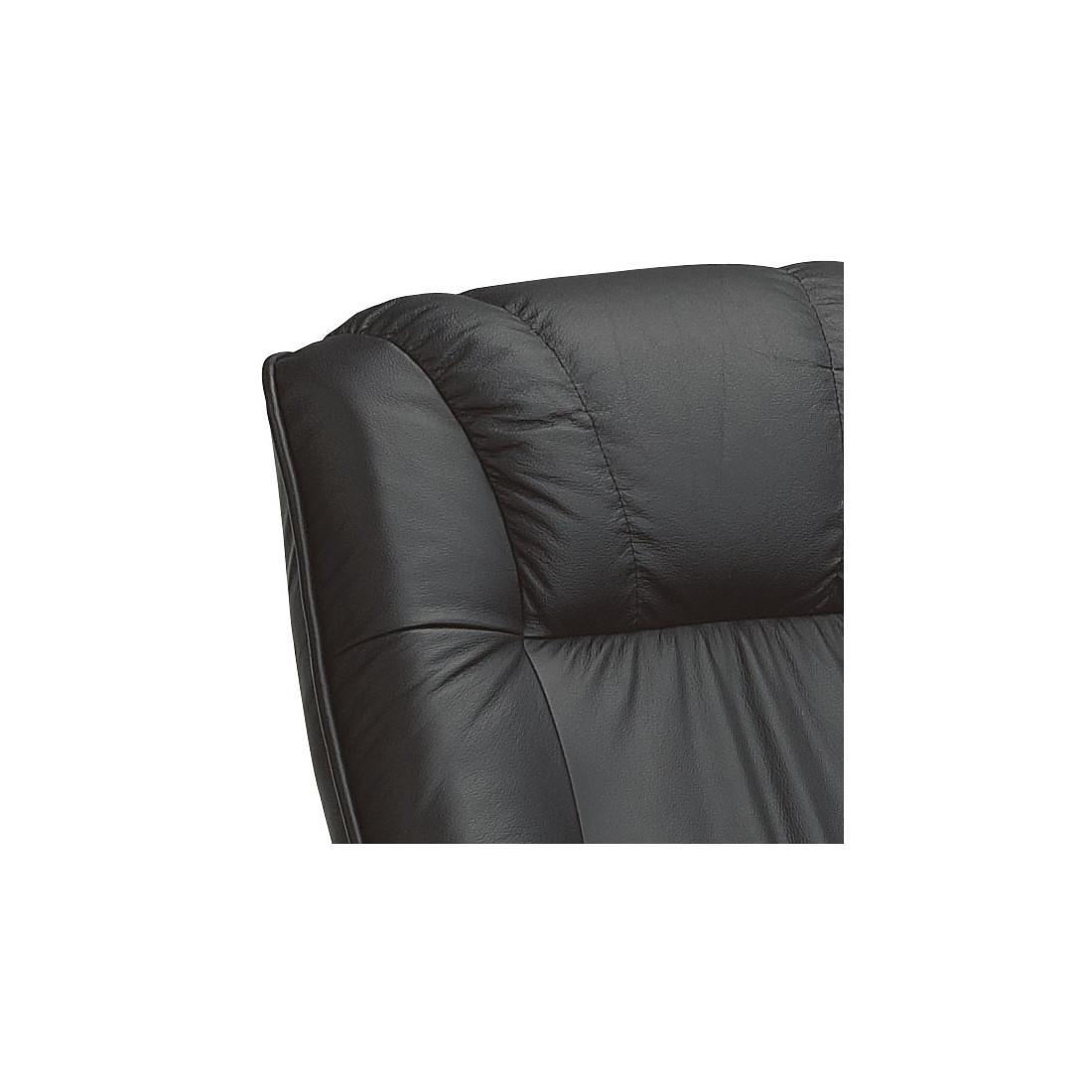fauteuil de relaxation cuir noir univers du salon