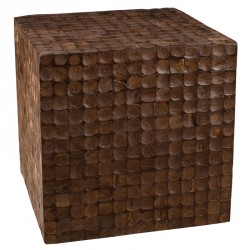 Cube en coconut marron COCO - Univers du Salon : Tousmesmeubles
