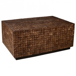 Table basse en coconut marron COCO - Univers du Salon : Tousmesmeubles