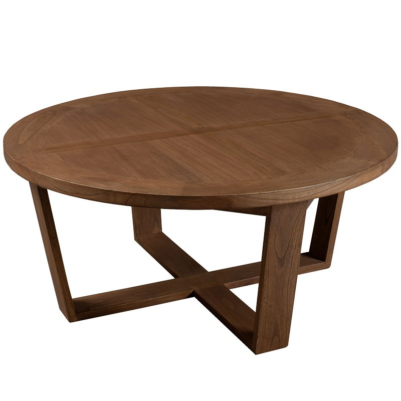 Table basse ronde 90 cm bois fanny univers salon - Table basse ronde but ...